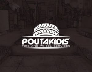 Logo poutakidis ελαστικα βουλκανιζατερ
